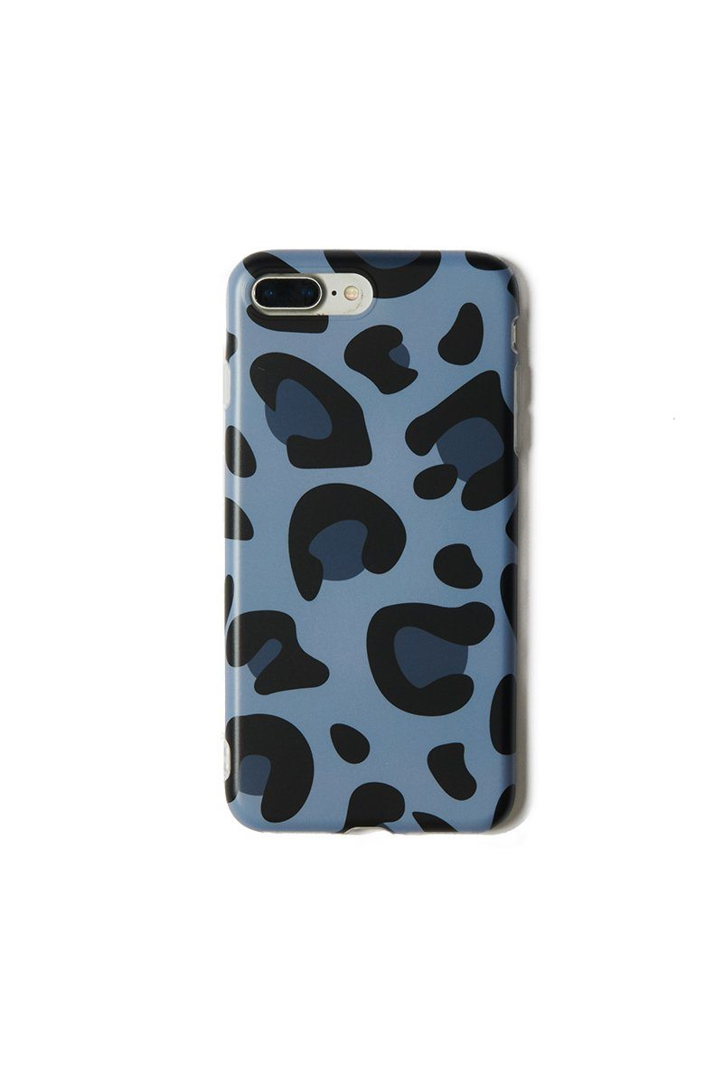 Blue Leopard iPhone 6/7/8 Plus Case - INFLOWSTYLE | INFLOWSTYLE