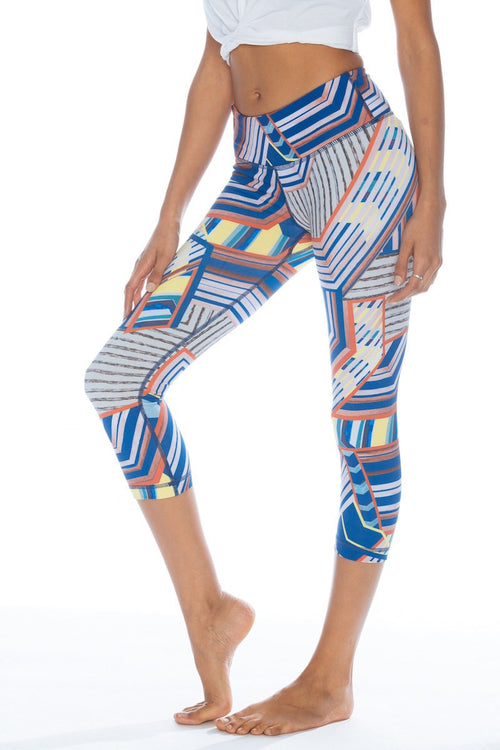 Printed Crop Legging - Traverse - Vimmia | INFLOWSTYLE