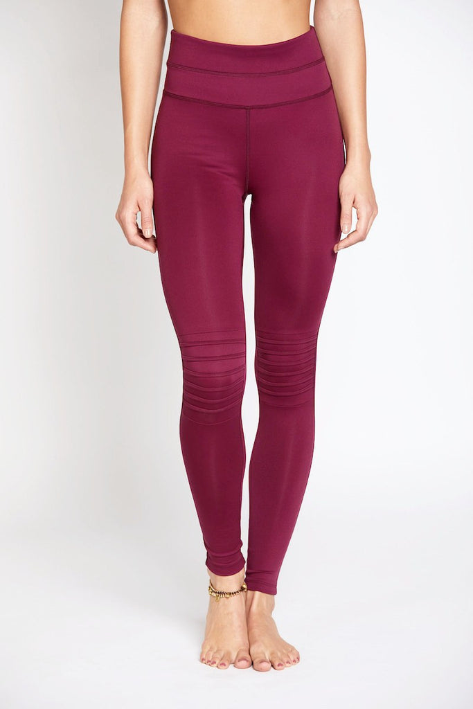 City Slicker Legging - Merlot - INFLOWSTYLE  - 1