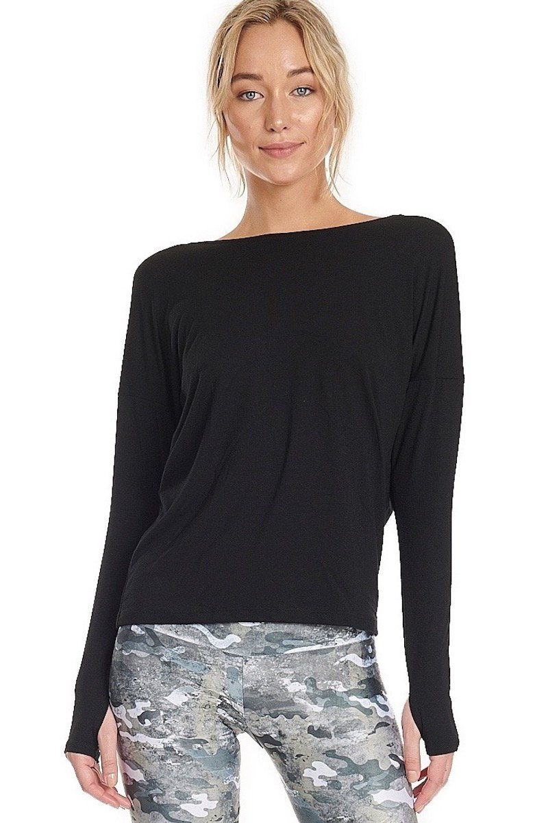 Diamond Back Top - Black - Onzie | INFLOWSTYLE
