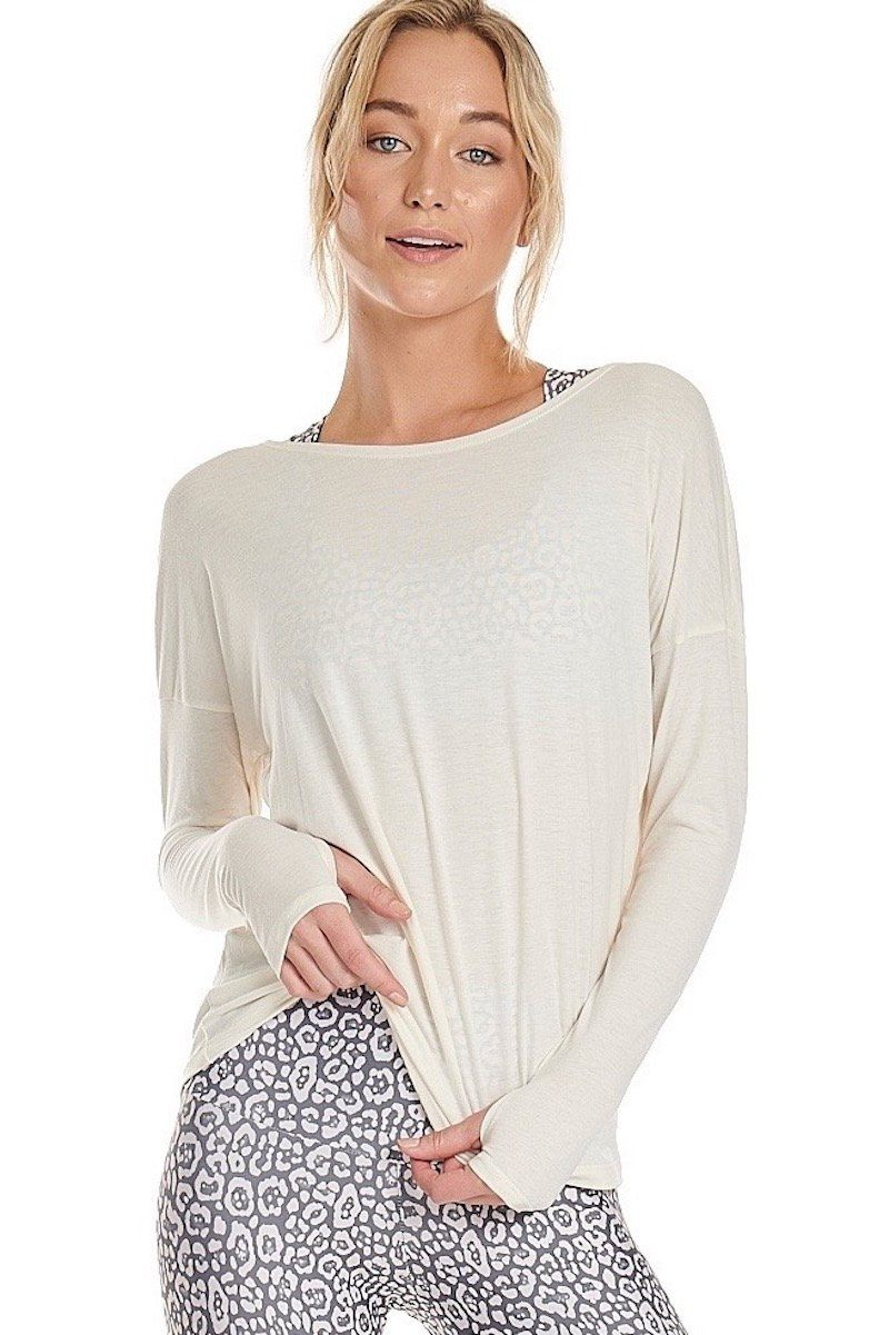 Diamond Back Top - Ivory - Onzie | INFLOWSTYLE
