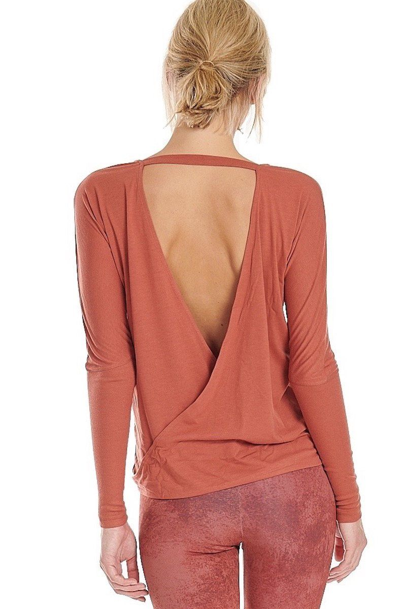 Drapey V Back - Copper - Onzie | INFLOWSTYLE