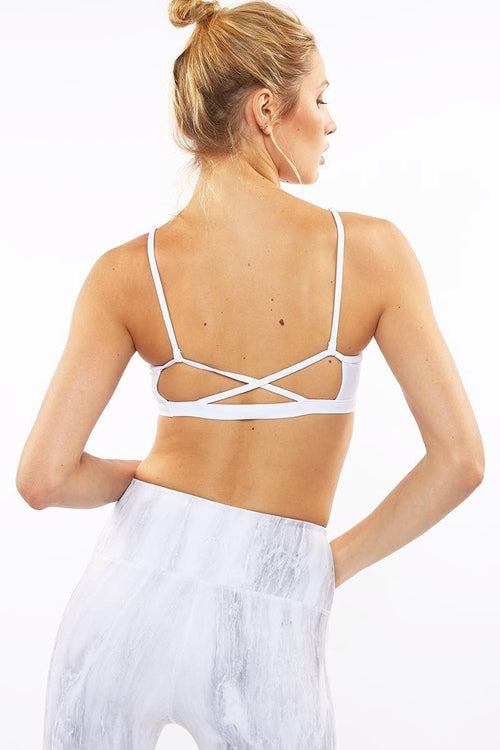 Infinity Sports Bras - White - Dharma Bums | INFLOWSTYLE