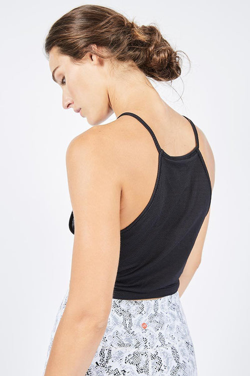 High Neck Tank - Black Mesh - Blue Life Fit | INFLOWSTYLE