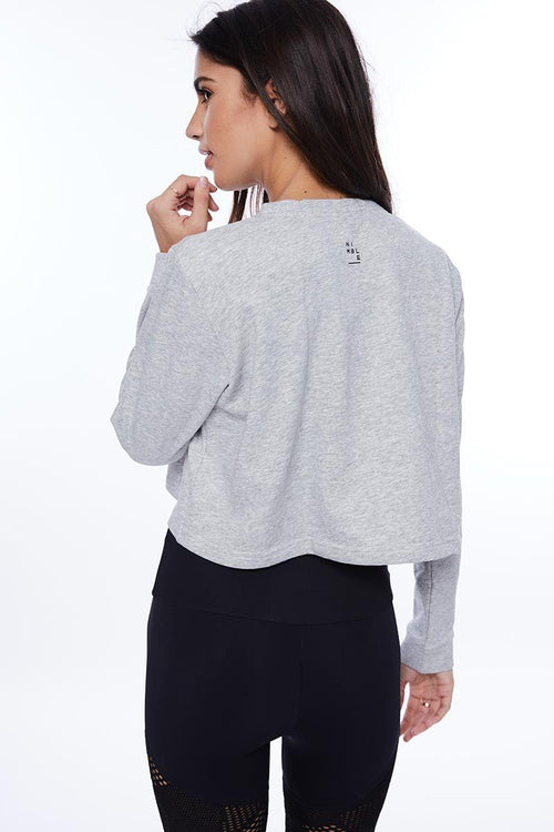 Cropped Crew - Light Grey Marble - Nimble | INFLOWSTYLE