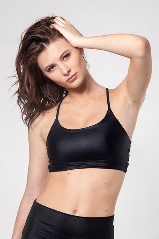 Vinyasa Bra - Shiny Black