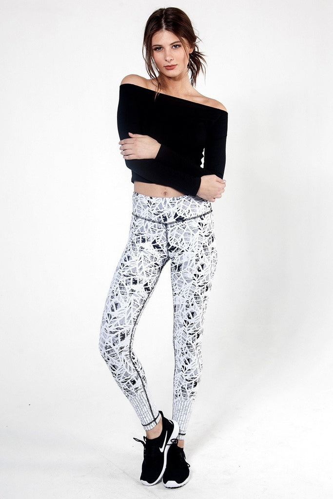 Leaf Jacquard Pant - INFLOWSTYLE  - 5