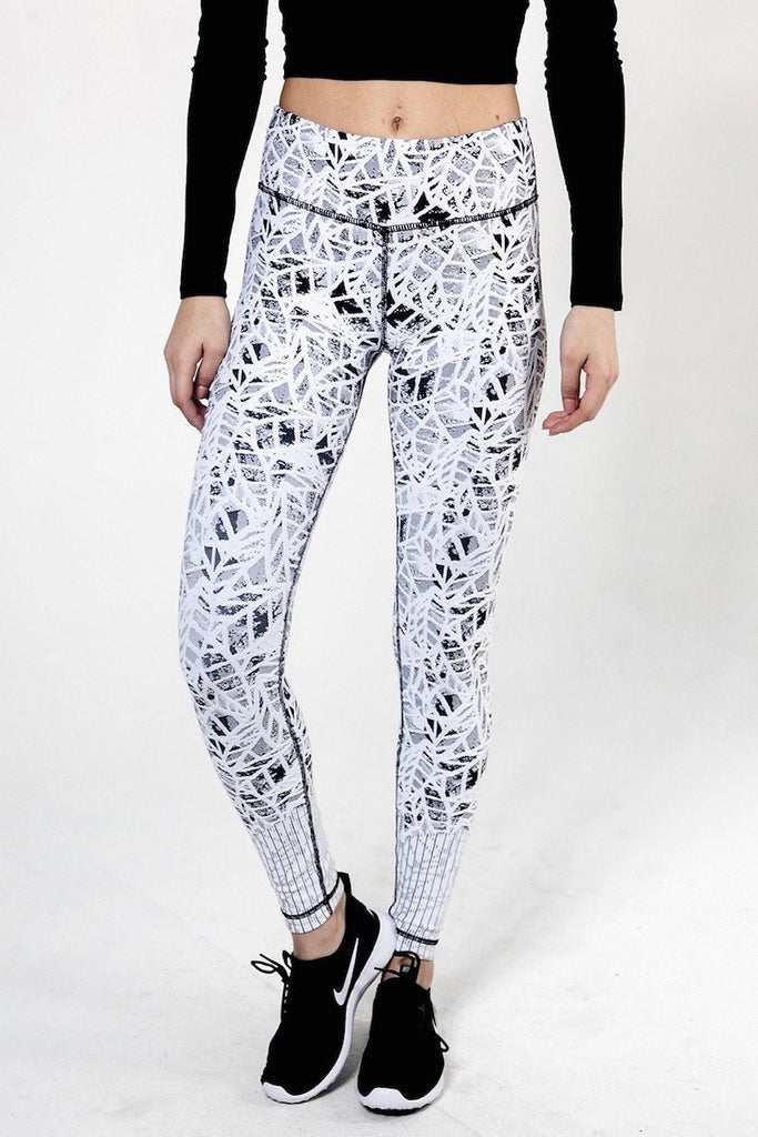 Leaf Jacquard Pant - INFLOWSTYLE  - 1