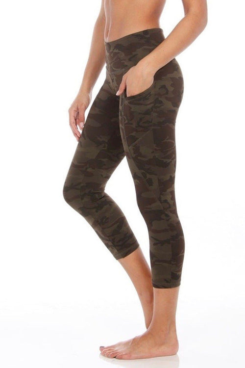 The Flynn Crop - Green Camo - Strut-This | INFLOWSTYLE