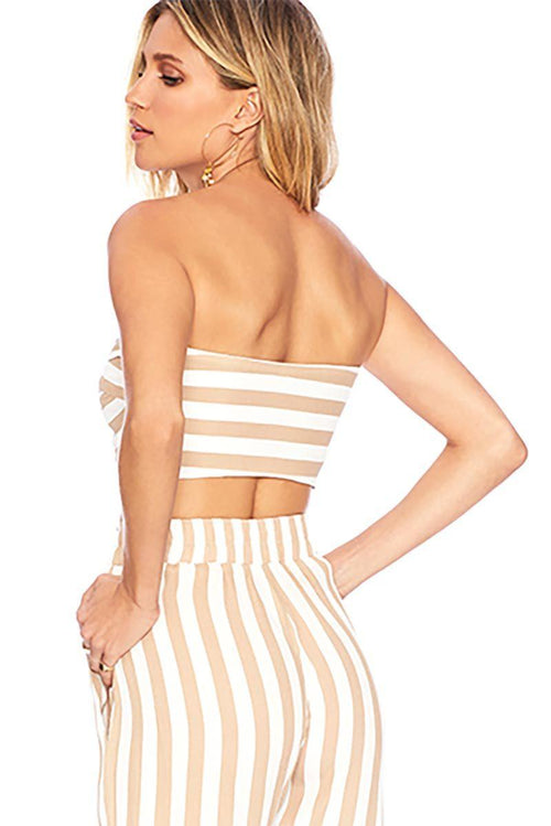 Avery Top - Cream Stripe - Beach Riot | INFLOWSTYLE