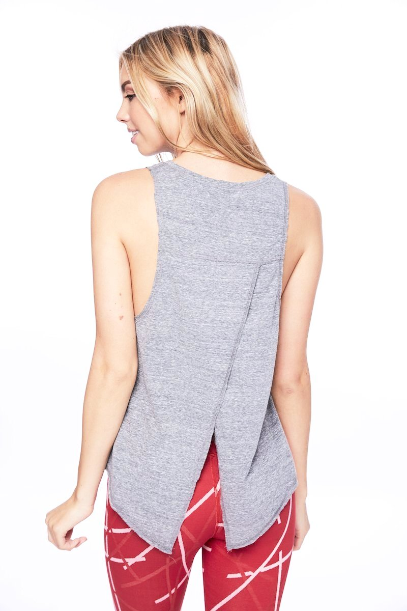 Pacific Pintuck Tie Back Tank - Heather Grey - Vimmia | INFLOWSTYLE