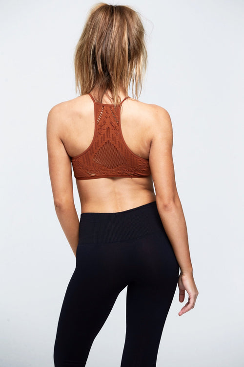Hanalei Seamless Bra - Copper - Free People | INFLOWSTYLE