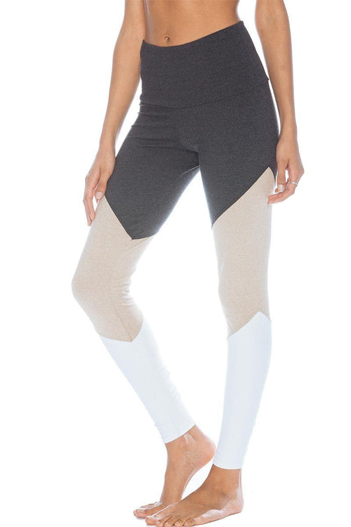 dbe7c28936780 High Rise Track Legging - Taupe Combo - Onzie | INFLOWSTYLE