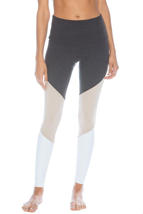 High Rise Track Legging - Taupe Combo - Onzie | INFLOWSTYLE