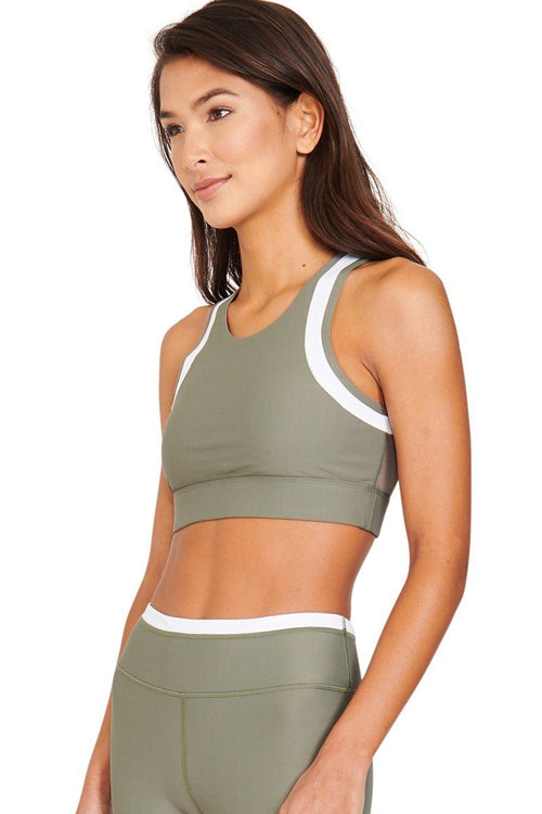 Cora Sports Bra - Khaki - All Fenix | INFLOWSTYLE