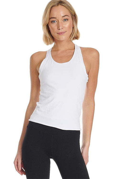 No Frills Seamless Tank - White