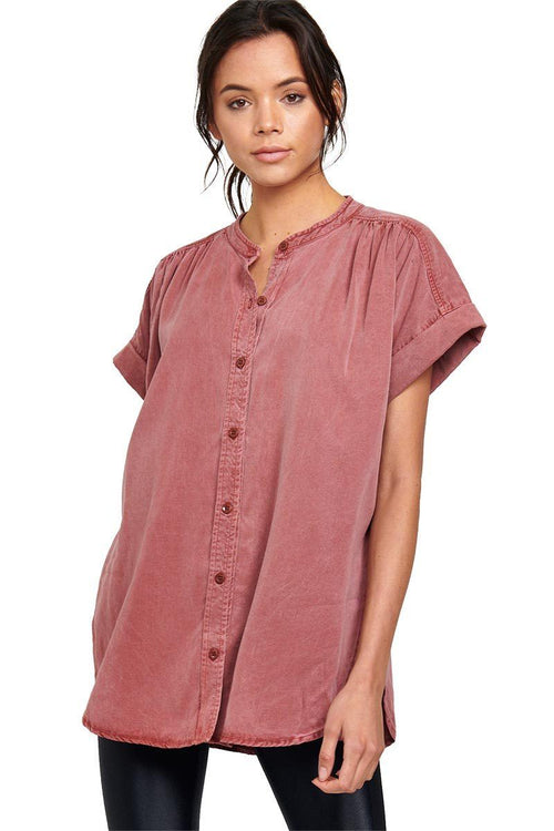 Hideaway Button Down - Terra - Vimmia | INFLOWSTYLE