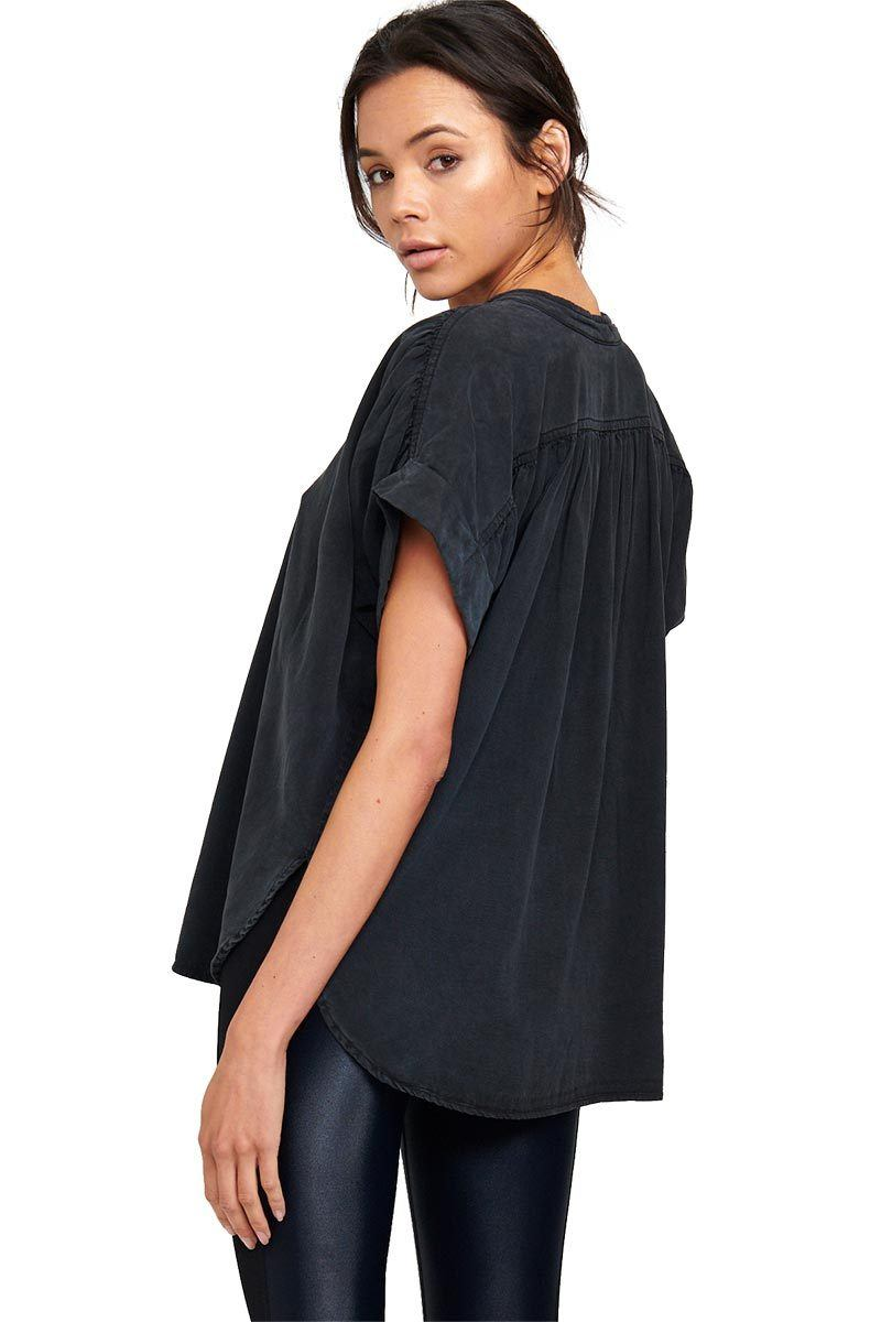 Hideaway Button Down - Charcoal - Vimmia | INFLOWSTYLE