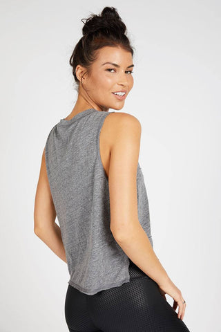 Pacific Pintuck Muscle Tee - Heather Grey