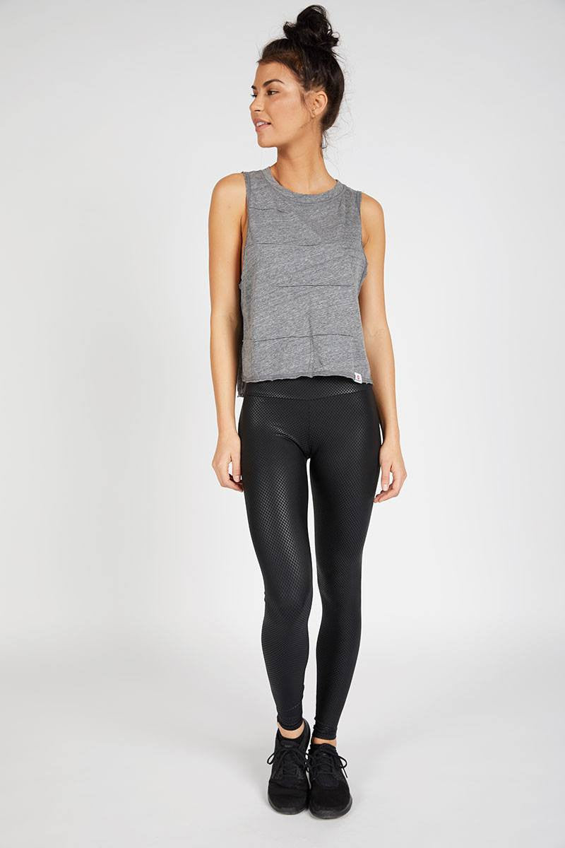 Pacific Pintuck Muscle Tee - Heather Grey - Vimmia | INFLOWSTYLE
