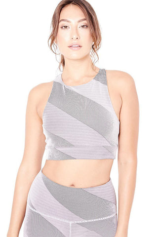 Y-Back Bra - Black/Silver