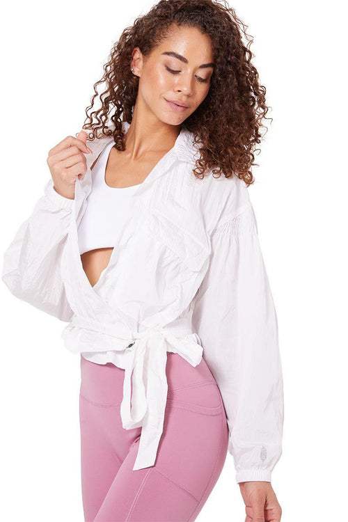 Kim Plunge Jacket - White - Free People | INFLOWSTYLE