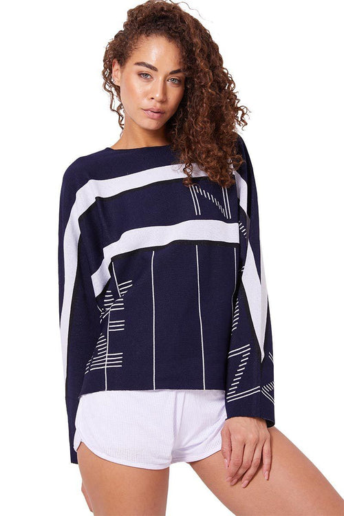Reserve Knit Top - Navy