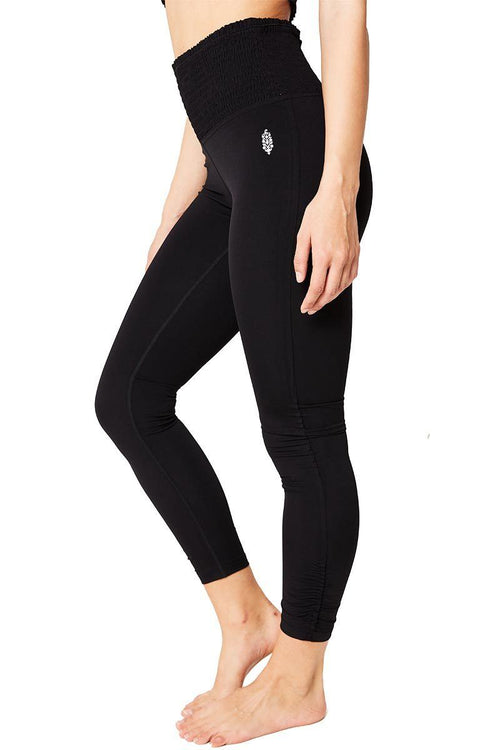 Smock It To Me Legging - Black - Free People | INFLOWSTYLE