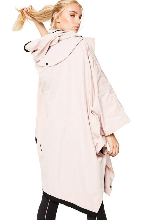 Stormie Poncho - Rose - Blanc Noir | INFLOWSTYLE