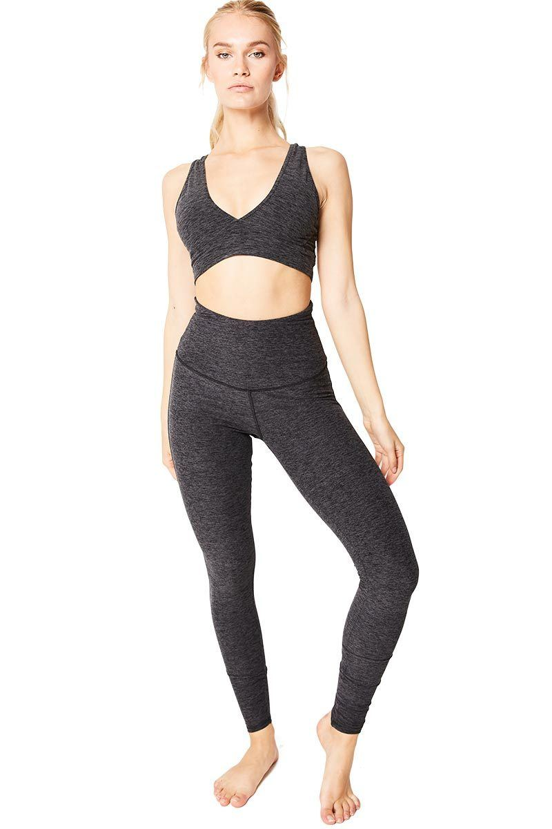 Brooks Crop - Heather Charcoal - Varley | INFLOWSTYLE