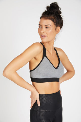 Vinyasa Seamless Racer Back Bra - Grey