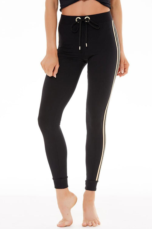 Sporty Jogger - Jet Black - Blue Life Fit | INFLOWSTYLE