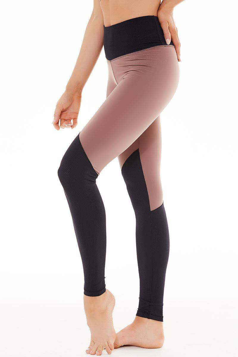 Radiate Legging - Black/Cocoa - Track & Bliss | INFLOWSTYLE