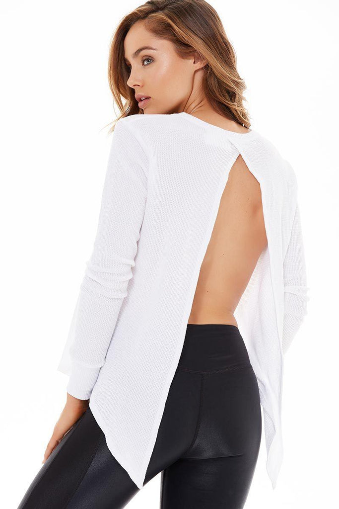 Open Back Long Sleeve - White