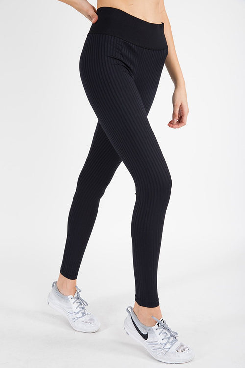 High Waist Legging - Jet Black - Blue Life Fit | INFLOWSTYLE