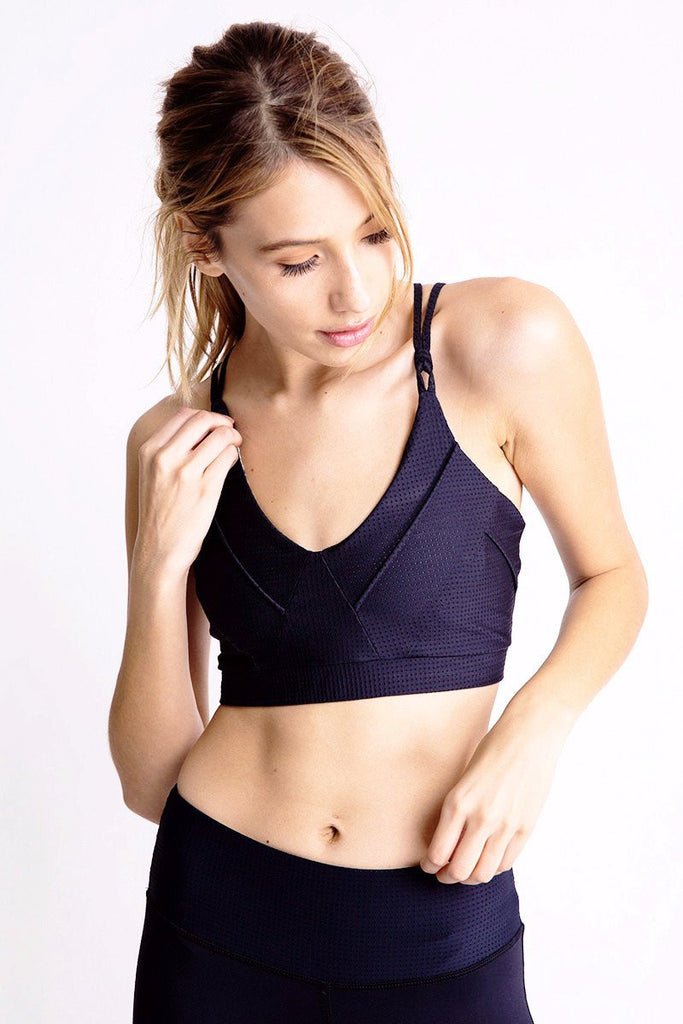Triangle Sports Bra - Black