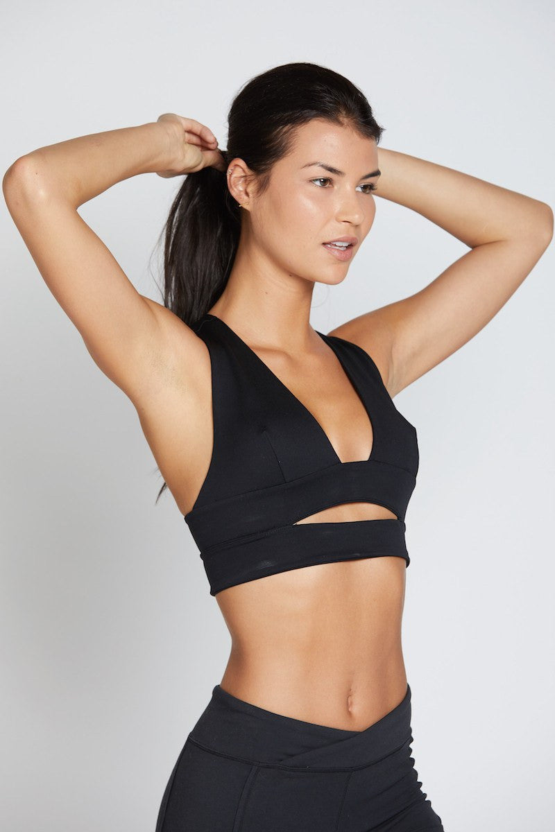 City Slicker Sports Bra - Black - Free People | INFLOWSTYLE
