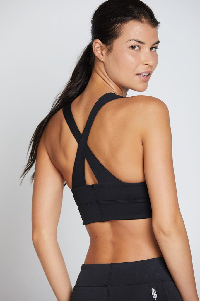 City Slicker Sports Bra - Black - INFLOWSTYLE  - 2