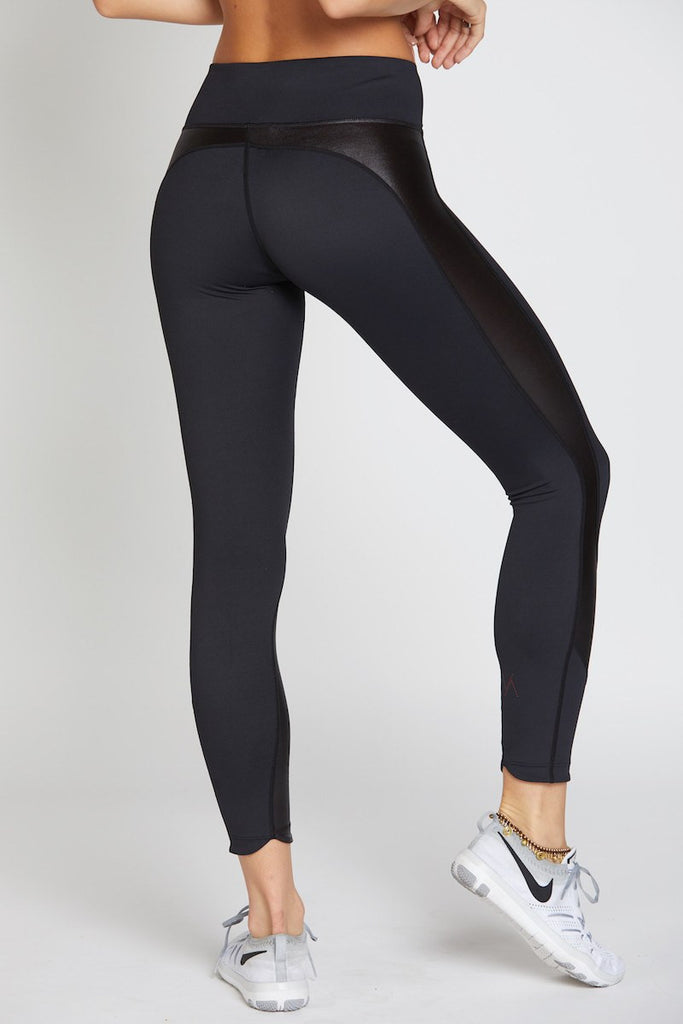 Whitney 7/8 Tight - Black with Black Oil Slick - INFLOWSTYLE  - 4