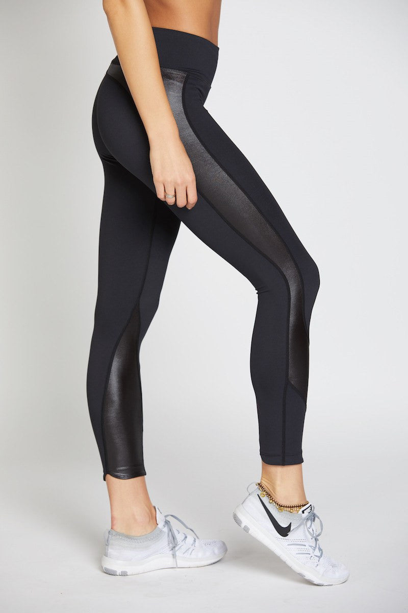 Whitney 7/8 Tight - Black with Black Oil Slick - INFLOWSTYLE  - 1