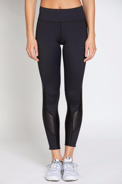 Whitney 7/8 Tight - Black with Black Oil Slick - INFLOWSTYLE  - 2
