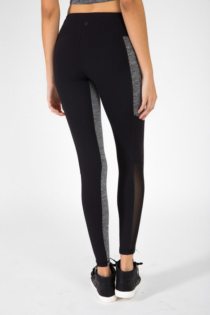 The Strut Pant - Black & Grey Moss