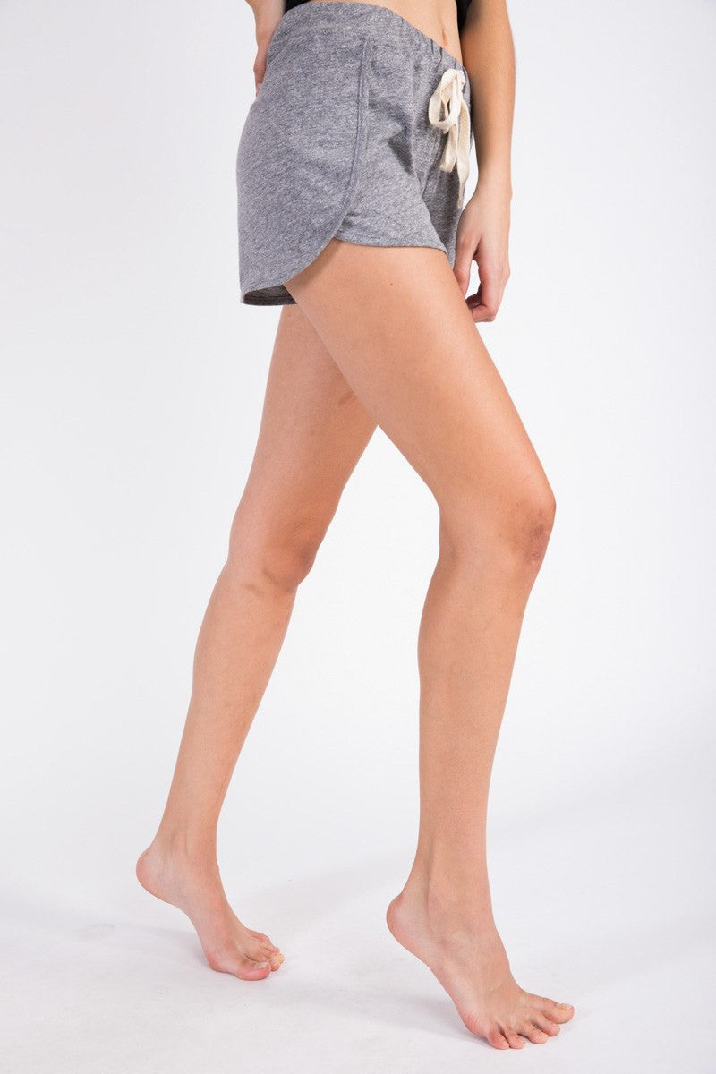 Napoli Jog Short - Heather Grey - Electric & Rose | INFLOWSTYLE