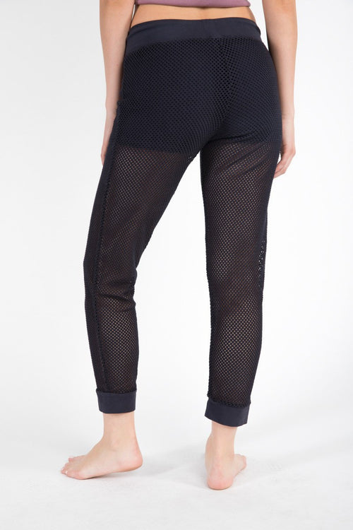 Panama Mesh Jogger - Black - Electric & Rose | INFLOWSTYLE