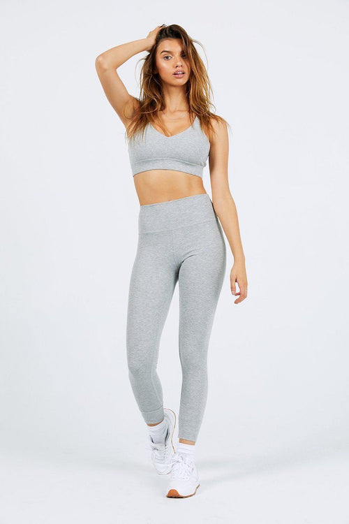 Balance Legging - Flex Grey Rib - Joah Brown | INFLOWSTYLE