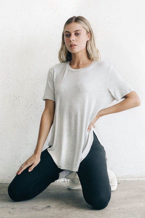 Live In Slouchy Tee - Pearl Grey