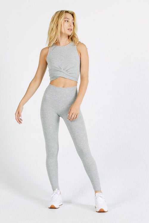 Marathon Crop - Grey FlexRib
