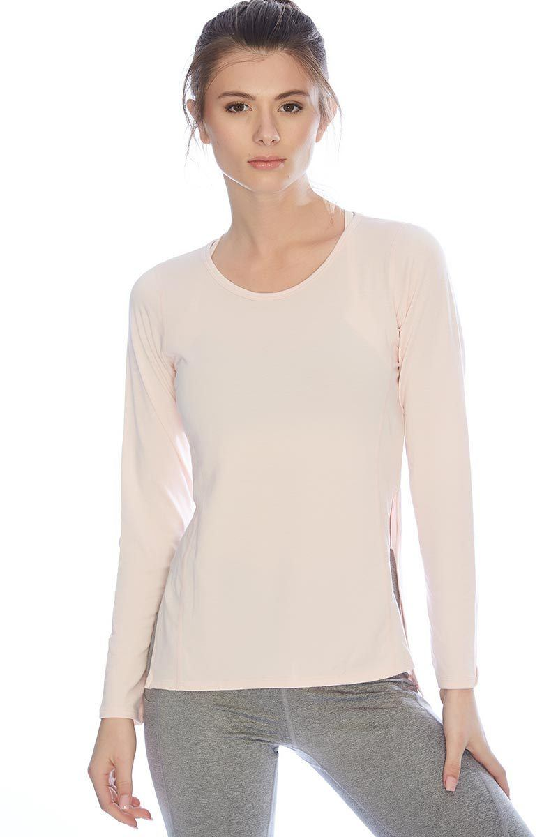 Debra Contour Seam Long Sleeve - Blush - Vie Active | INFLOWSTYLE