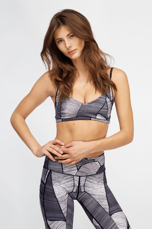 Mia Bralette - Midnight Palm - INFLOWSTYLE  - 1