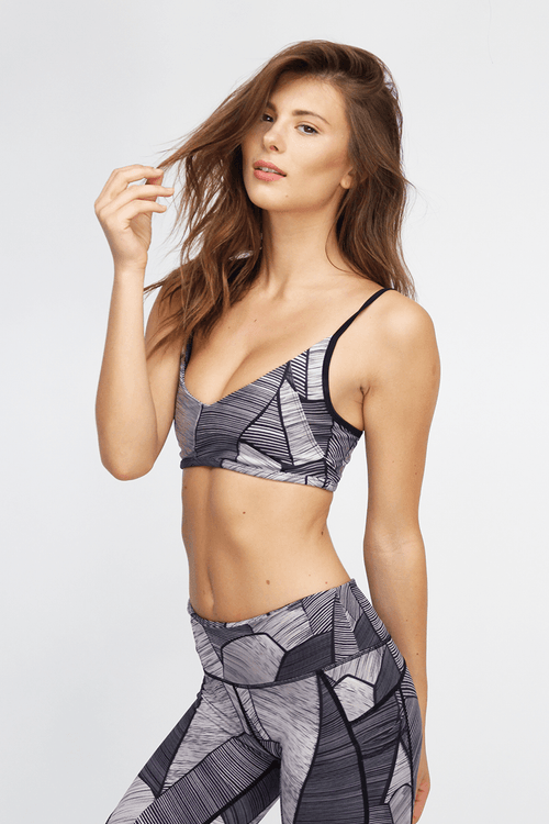Mia Bralette - Midnight Palm - INFLOWSTYLE  - 2